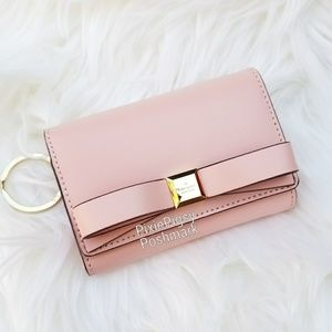 Kate Spade Darla Montford Bow ID Key Ring Wallet
